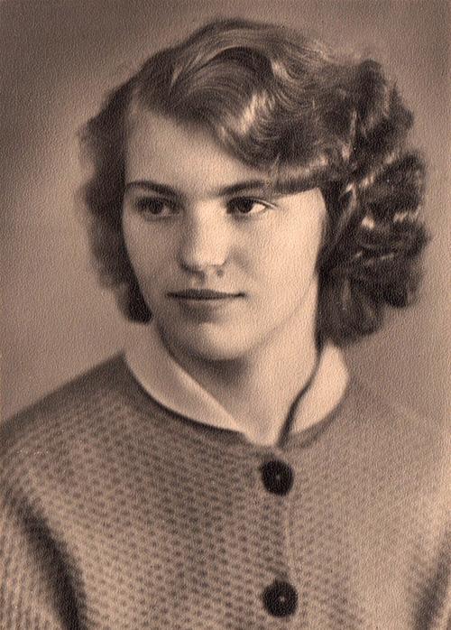 Алла Прядко в 19 лет.
