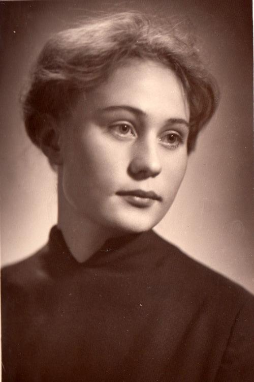 Люда Саблина в 22 года.